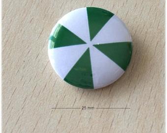 """badge 25 mm """"Windmill green 02"""""""