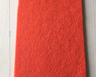 Coupon of 3 mm thick orange felt