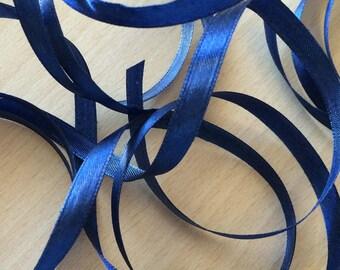 pretty decorative 8007 blue satin ribbon