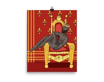 Magic King Pinup in Throne Room