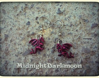 Smaug inspired dragon earrings