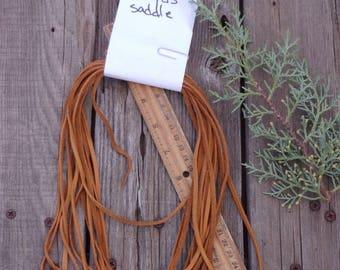 Saddle tan leather lace , Saddle tan leather cord , Soft leather lace