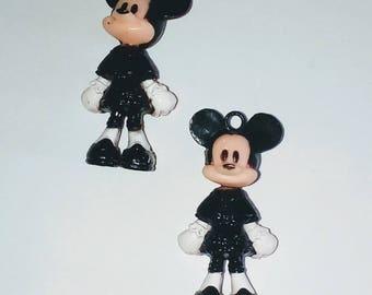 X 1 Mickey black kawaii 37mm