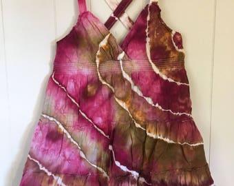 Sundress or tunic. Tie dye ice dye up-cycled.   Large.