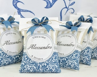 10 Personalized Favors-Bag 8.5 x 13 cm for communion and confirmation