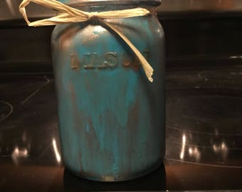 Hand painted mason jar