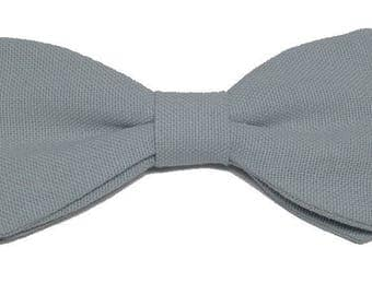 Bow tie green gray with straight edges
