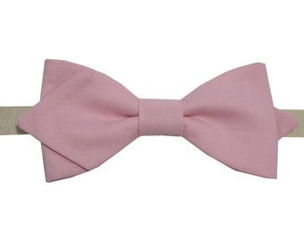 Pink sherbet bowtie with sharp edges
