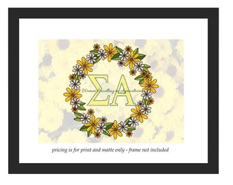"Sigma Alpha Print -- 5""x7"" or 8""x10"" Print (Ready to Frame)"