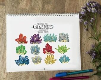 Birthstones calendar 2018, quartz calendar 2018, crystal calendar 2018, gemstones calendar 2018, rocks calendar 2018, gemstones and crystals