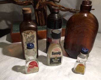 Old Product Bottles - lot of 6