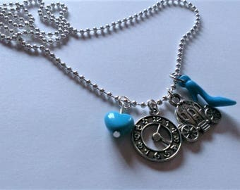 Cinderella Inspired Charm Necklace