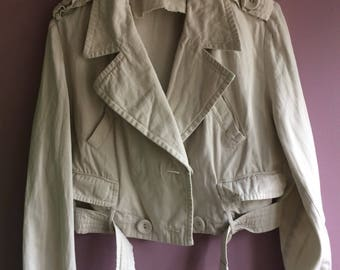 Cropped cotton 80's jacket