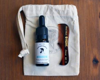 Beard Kit with Bold & Crisp Beard Oil, Kent Comb and Gift Bag