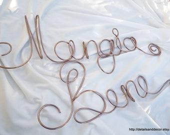 Italian Mangia Bene Sign For Kitchen Or Dining Room, Custom Language