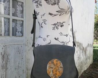 """Handmade shoulder bag, model """"Suzanne"""", 100% leather"""