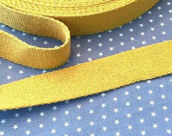 Cotton belt 3 cm mustard yellow