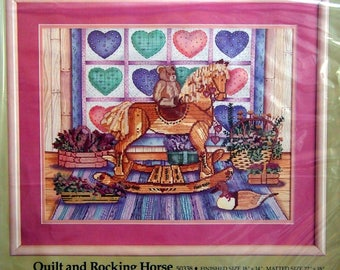 Quilt And Rocking Horse By Something Special And Candamar Vintage Cross Stitch Kit 1987