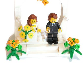 Custom Lego Wedding Cake Topper LegoCakeTopper LegoFavor LegoWedding