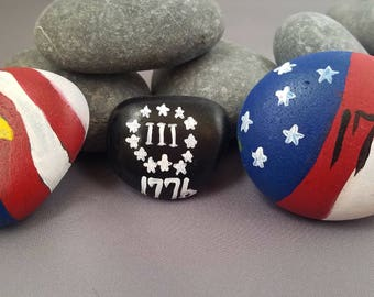 Patriotic Painted Rocks
