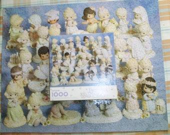 1998 Springbok Precious Moments Jigsaw Puzzle 1000 Pieces PZL6199 Featuring 16 Precious Moments Figurines
