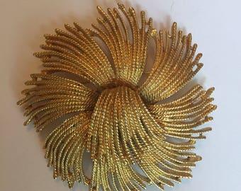 Vintage Monet Cordelia Flower Brooch