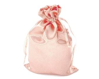 Pink 3 bag bag satin 11 x 17 cm