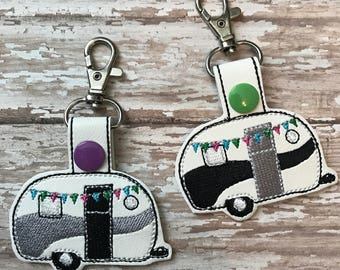 Embroidered Camper RV Keyfob