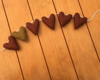 Brown heart garland