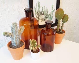 Vintage apothecary jars/ chemistry jars/ storage jars