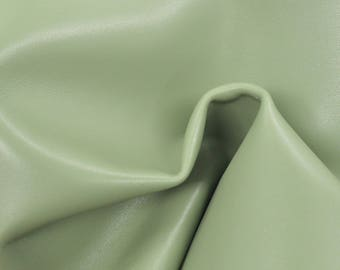 "Mellow Avocado Green Leather Cow Hide 8"" x 10"" Pre-cut 3 oz TA-59749 (Sec. 4,Shelf 4,C)"