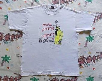 Vintage 90's March of Dimes Scream Street T shirt, size Large 1990 very bizarre weird Marathon