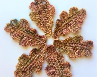 Crocheted Fall Leaves
