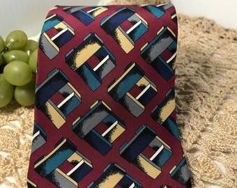 V313  Priatti neck tie silk vintage