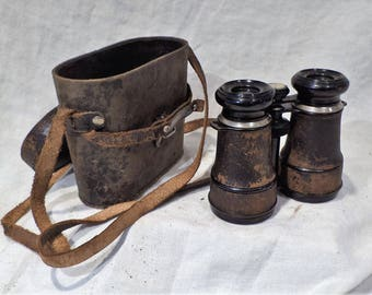 French Binoculars with Compass, Antique Champoux Paris, Old Optics