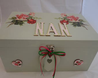Large Memory Box / memorabilia Box / keepsake box, to store all those photos, and cherished items, Keeping memories both present and future
