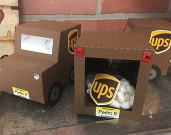 UPS Truck party favor or gift card holder