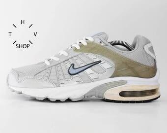 NOS Vintage Nike Air Aim sneakers / Vintage Silvery Grey Trainers / Deadstock Athletic Shoes / Mens womens sneakers kicks / 90s