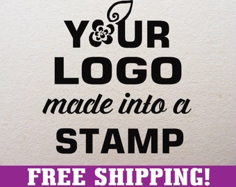 4 x 3.5 in. FREE SHIPPING! Custom rubber stamp with your logo, custom logo stamp, branding stamp, address stamp