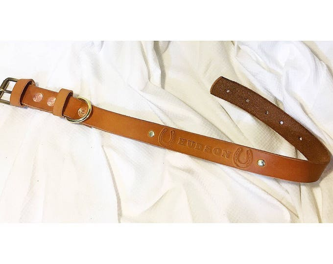 Custom leather dog collar - Vegetable Tanned