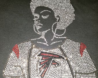 Afro Lady- ATL Falcons
