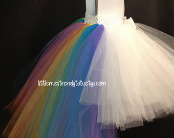 Unicorn Birthday Tutu, Unicorn Tutu, Rainbow Birthday Tutu, Rainbow Unicorn Outfit, Unicorn,  Tutu, Unicorn Birthday, Rainbow Tutu, Hi Low