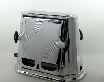 1930s Son Chief Art Deco Toaster with Bakelite Handles