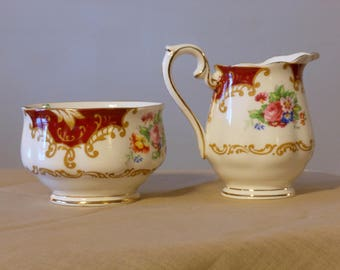 Royal Albert Canterbury Bone China Sugar & Creamer Set