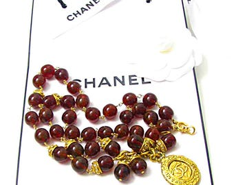 GRIPOIX for CHANEL necklace glass 70-80s
