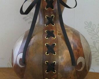 original gourd calabash vase as a 12 corset laced
