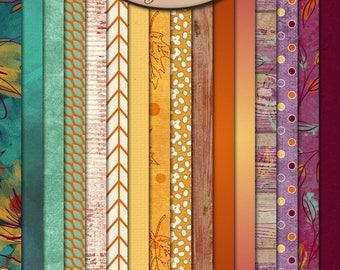 Digital Scrapbooking, Paper, Patterned: Autumn Joys