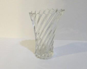 Swirl Crystal Glass Vase