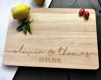 Custom Cutting Board - Personalised Name Chopping Board Personalised Wedding Gifts For Couple - Anniversary - Gifts for Couples Wedding Gift