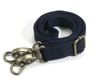 """byhands Adjustable Webbing Cross  Shoulder Bag Strap with Bronze Style Ring, 28.7""""~51.6"""" (44-1321)"""